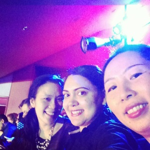 Adrienne, Me and Aileen talking a selfie