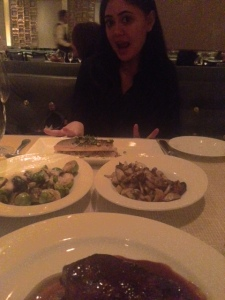 very excited for my branzino and brussel sprouts...